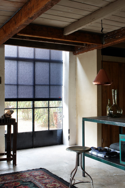 Industrial Style Roller Shades Home Office