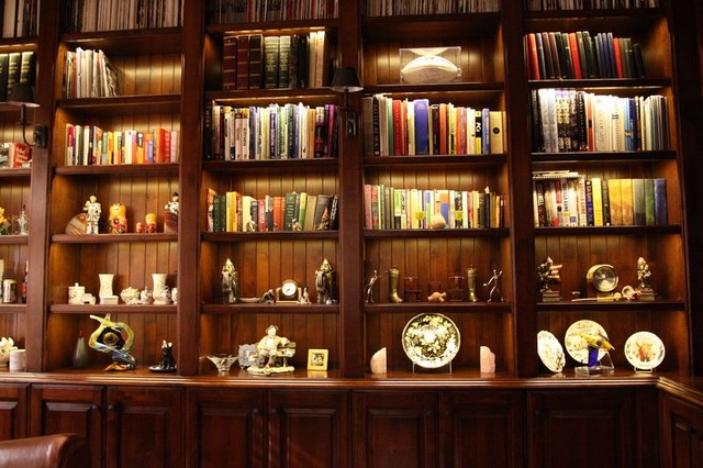 Inspired Led Accent Lighting Bookcase And Office Traditional Home