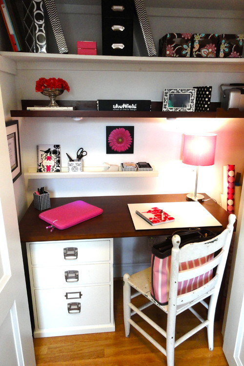 142662 0 8 9315 traditional home office Closet Office