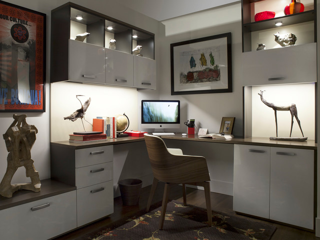 Interior And Under Cabinet Led Lights Modern Home Office New York By Transform Home Houzz Au