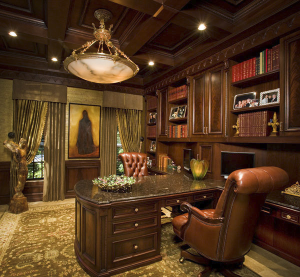 interior design by retro interiors traditional home office - Traditional Home Office