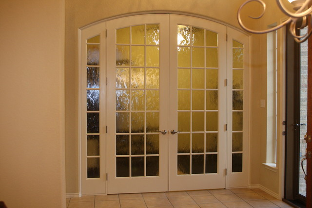 Interior glass door project traditional home office for Interior glass french doors