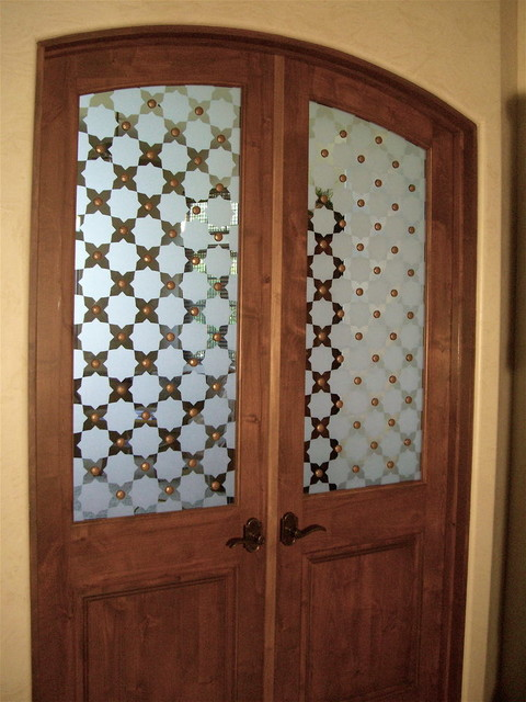 Interior Glass Doors With Obscure Frosted Glass Designs Parquet