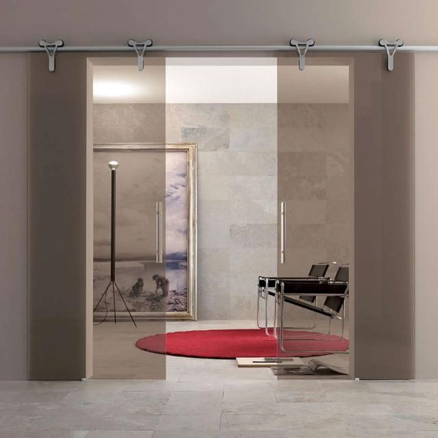 Interior sliding glass door midcentury home office for Glass office doors interior