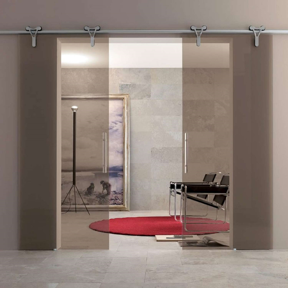 Interior Sliding Glass Door Midcentury Home Office Dc Metro By Dulles Glass And Mirror