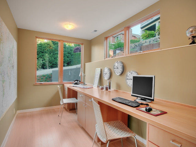 contemporary home office by David Neiman Architects