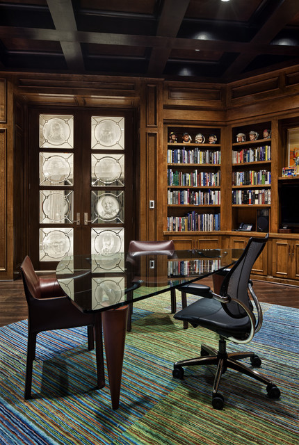 italian modern traditional home office austin by jauregui