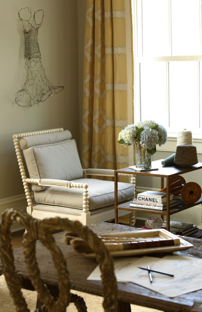 traditional home office by Janie K. Hirsch, ASID