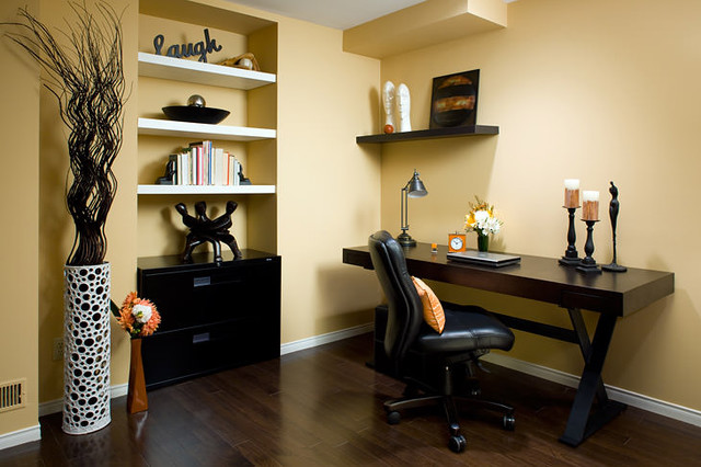 Jane Lockhart Yellow Home Office Modern Home Office