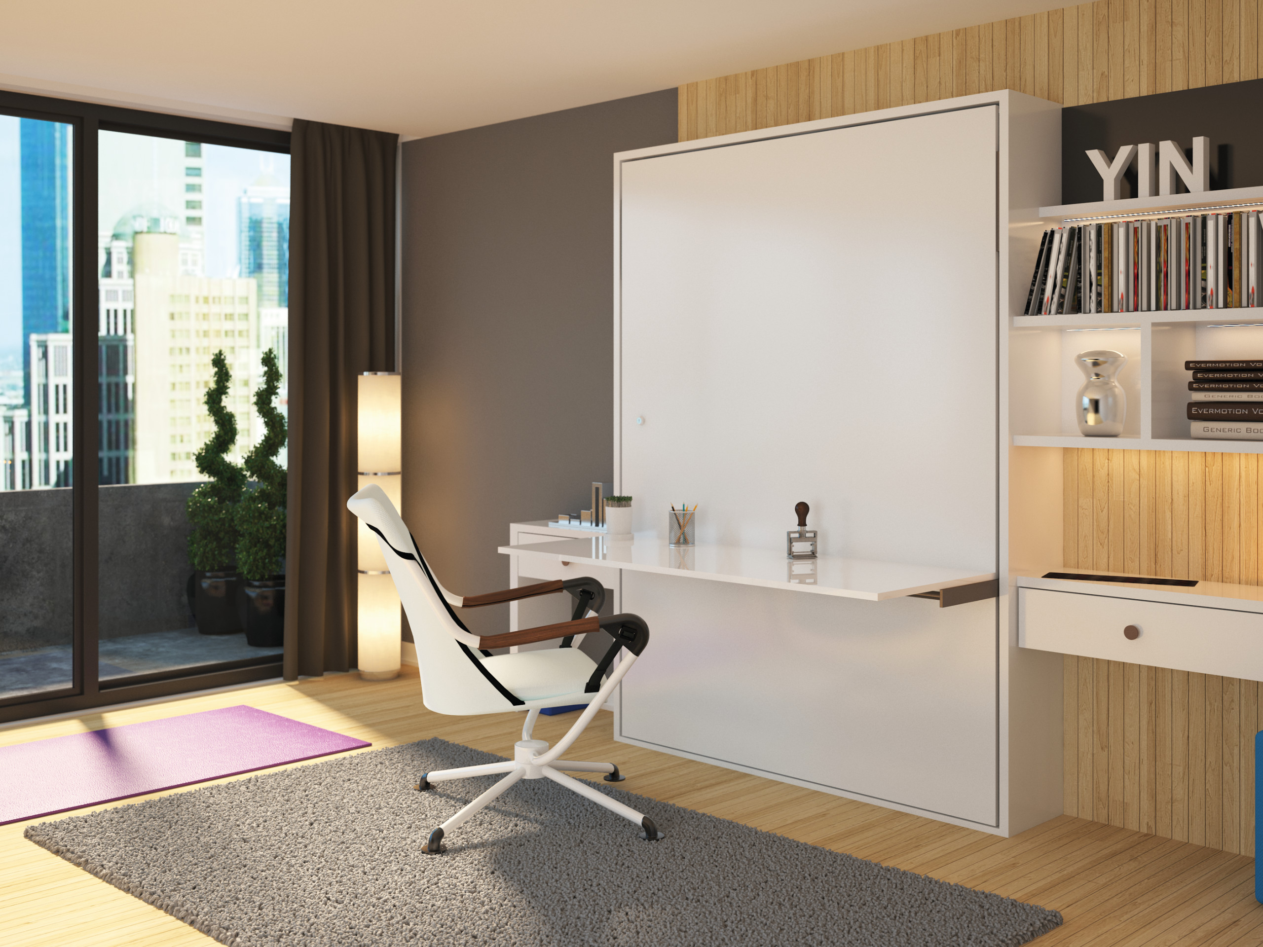 Office Desk and Murphy Bed Combination