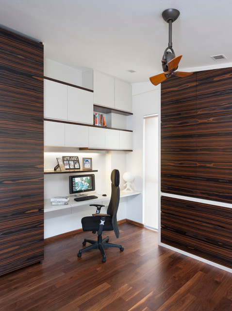Jln Menarong contemporary-home-office-and-library