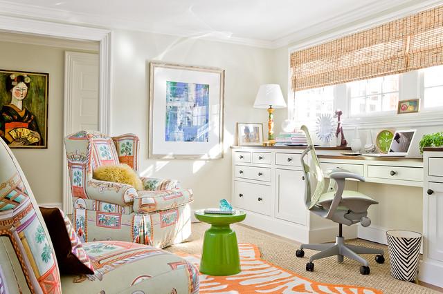 Katie Rosenfeld Interiors transitional-home-office