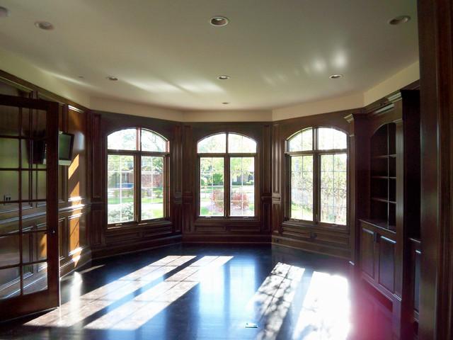 Inspiration for a timeless home office remodel in Denver