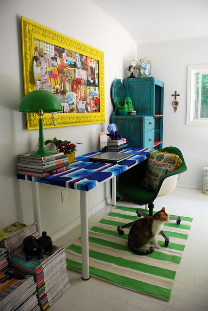 Kim Johnson- home office eclectic-home-office