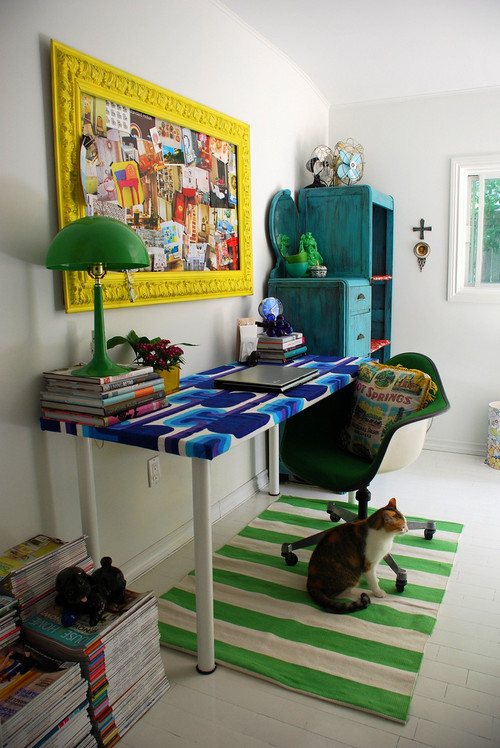 eclectic home office Kim Johnson- home office