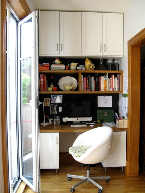 kitchen office corner - Traditional - Home Office - montreal - by Pour Toujours