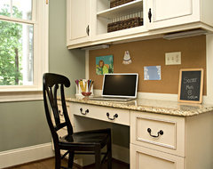 Kitchen traditional home office