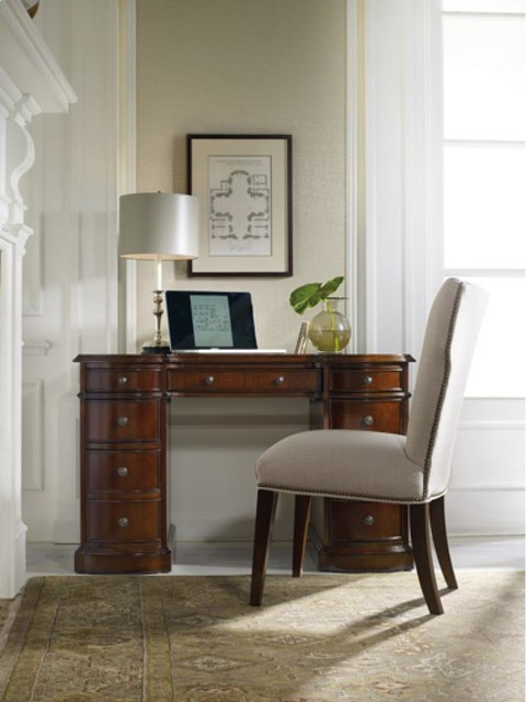 Knee Hole Desk By Hooker Furniture Traditional Home Office Library Atlanta By Home