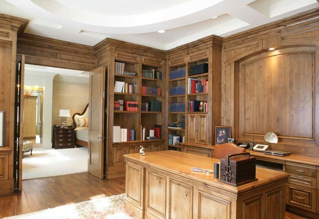 Knotty Alder Home Office traditional-home-office