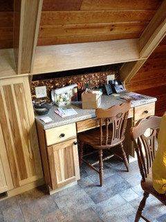 Kraftmaid Briarwood Hickory - Traditional - Home Office - other metro - by Lowe's