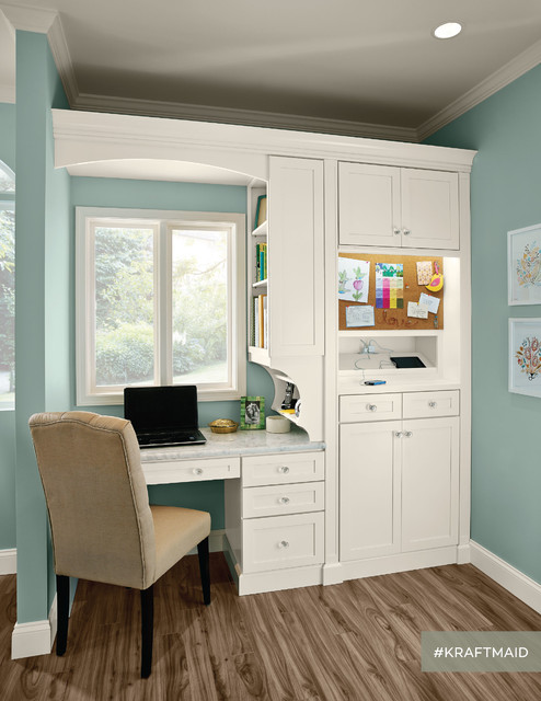 kraftmaid kitchen home office area traditional home office detroit by kraftmaid. Black Bedroom Furniture Sets. Home Design Ideas