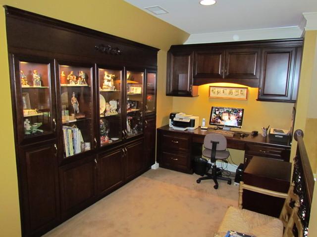 Kraftmaid Montclair Cherry Kaffe - Miello Desk - Traditional - Home Office - charlotte - by ...