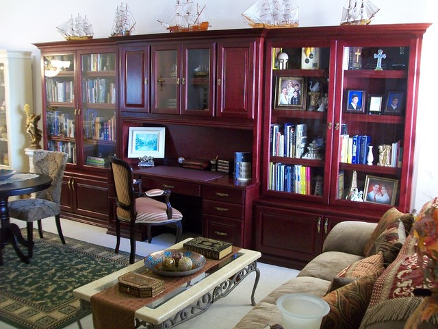 Laguna Niguel Cherry Desk and Display traditional-home-office