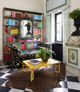 Eclectic Home Office lake forest show house - eclectic - home office & library