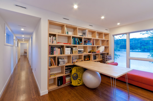 Lake Iosco House interior modern-home-office