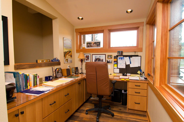 Lake Oswego Lake Remodel Eclectic Home Office