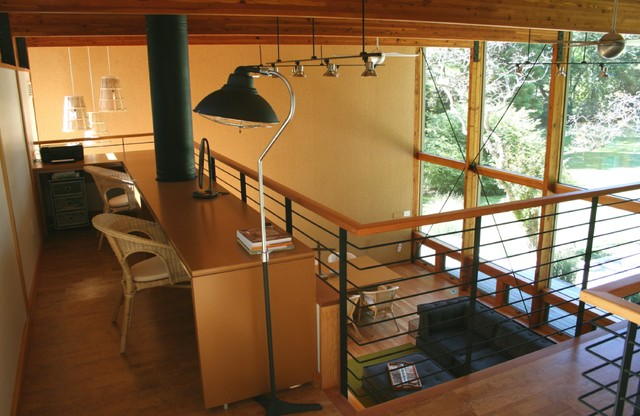 lakeside think tank office loft modern home office