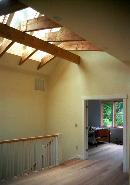 Large Skylight Over Study Loft Traditional Home