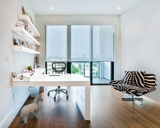 Las Olas Condo - Contemporary - Home Office - Miami - by ...