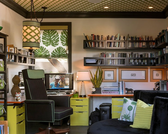 Lime Green Cabinet Home Office Design Ideas Pictures