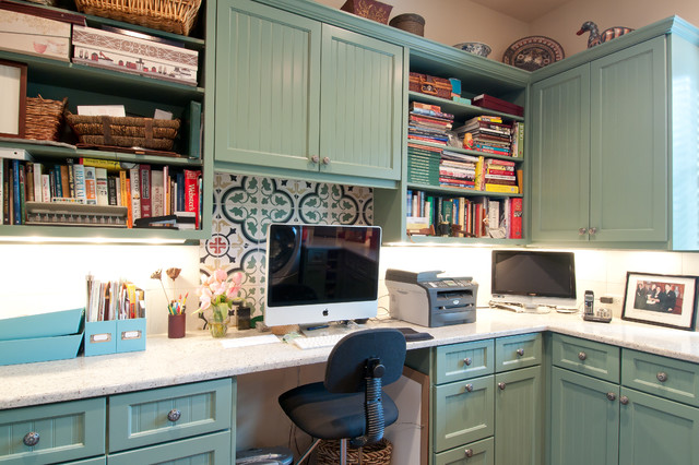 Laundry Room mediterranean home office