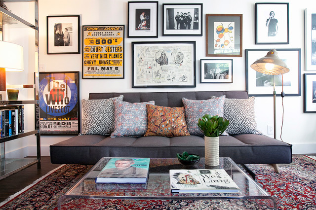 Inspiration for a contemporary home office remodel in Los Angeles with white walls