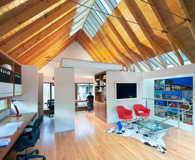 Laurel Hills Studio + Garage Contemporary Home Office