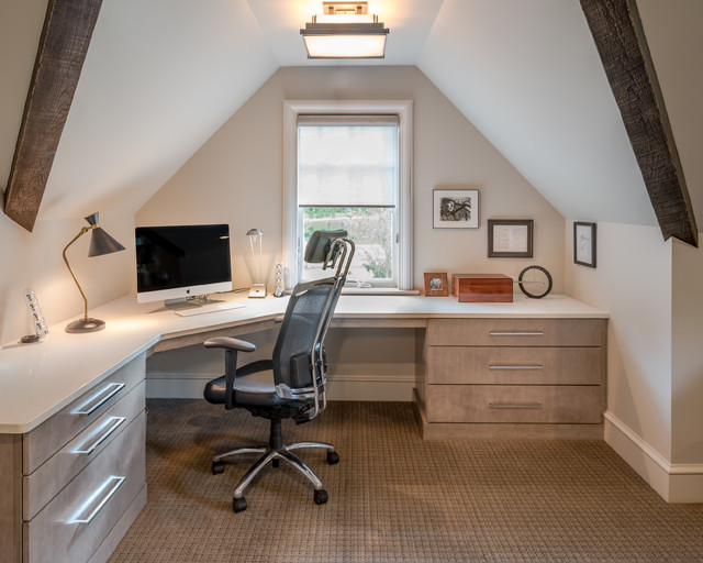 New Construction Home In Haverford Rustic Home Office