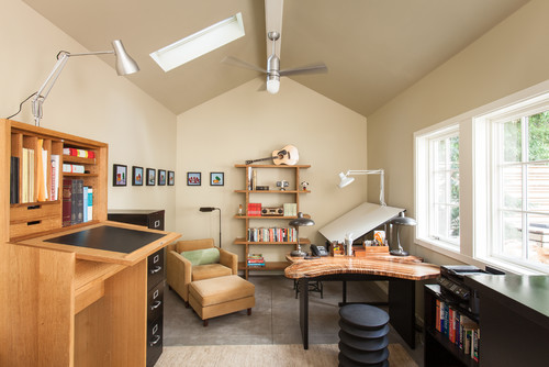 Office at home design Chic Photo By Howells Architecture Design Llc More Transitional Home Office Photos Forbes How To Design Healthy Home Office That Increases Productivity