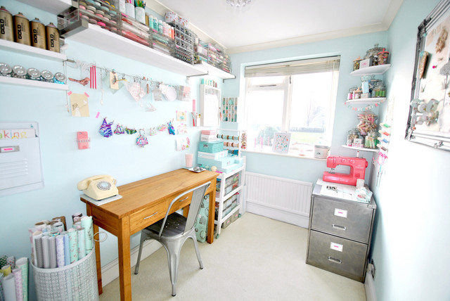 Lavender Cottage - Craft Room - Shabby chic - Home Office ...