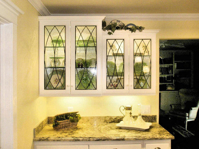 Superieur Leaded Glass Cabinet Inserts For   Poulos Residence Traditional Home Office