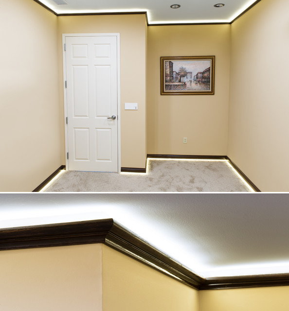 Install Indirect lighting in crown molding by Creative Crown -