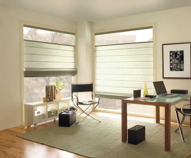 Levolor Classic Roman Shade Contemporary Home Office
