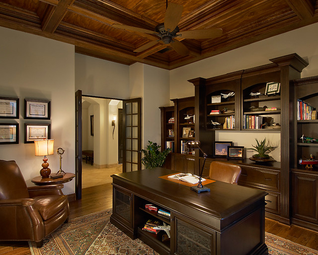 libraries and offices traditional home office phoenix by eagle luxury properties. Black Bedroom Furniture Sets. Home Design Ideas