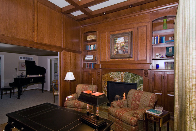 Library Addition traditional-home-office