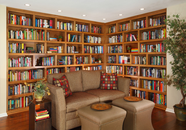 Library Asian Contemporary Traditional Living Room