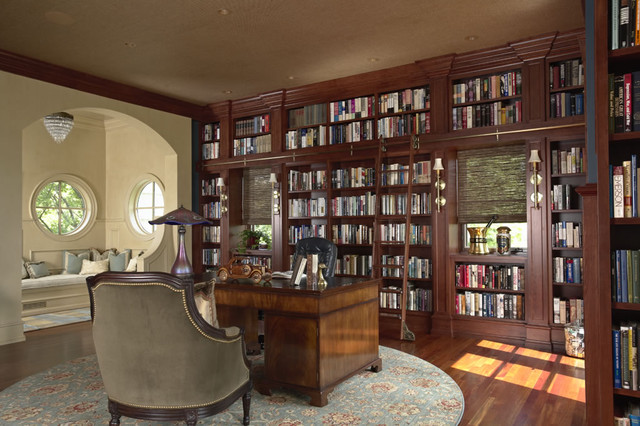 Library traditional-home-office-and-library