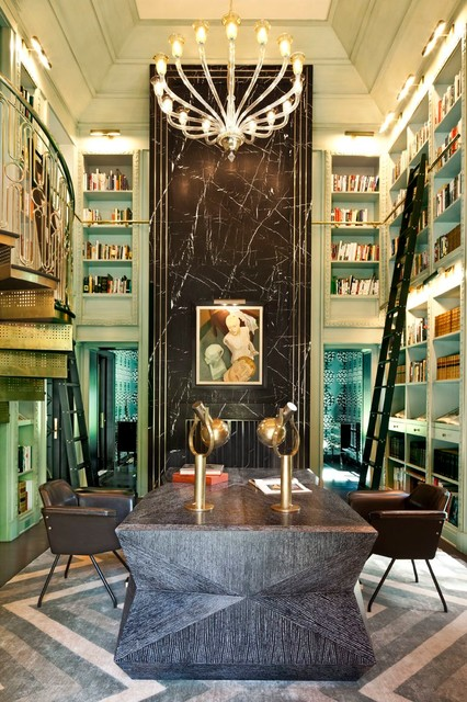 Superieur Library   Eclectic   Home Office   Los Angeles   By Kelly Wearstler