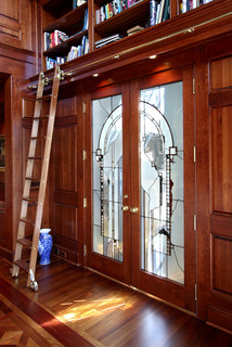 Library Ladder Traditional Home Office Minneapolis