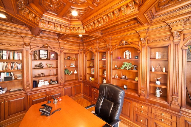 Full paneled Home Office traditional-home-office